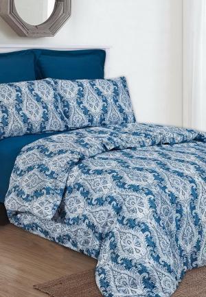 Комплект постельного белья Евро Sofi De Marko. Цвет: синий