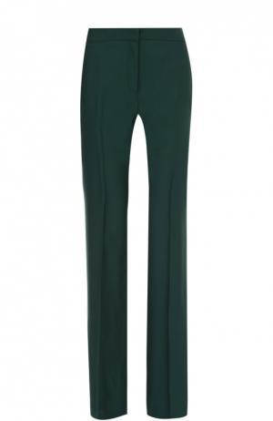 Широкие брюки прямого кроя со стрелками No. 21. Цвет: зеленый