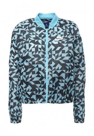 Ветровка Nike. Цвет: голубой