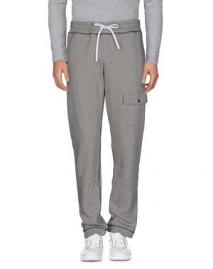 Повседневные брюки FUTUR. Цвет: светло-серый