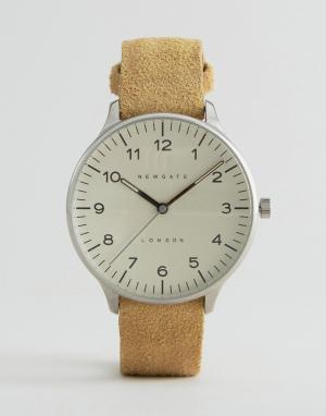 Newgate Часы с замшевым ремешком и кремовым циферблатом Blip. Цвет: рыжий