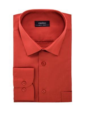 Рубашка CASINO. Цвет: рыжий