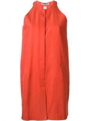 Мини-платье без рукавов Stephen Sprouse Vintage. Цвет: красный