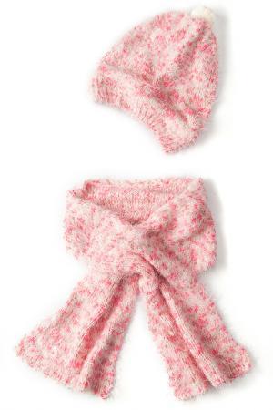 Комплект: шапка, шарф I love to dream. Цвет: розовый