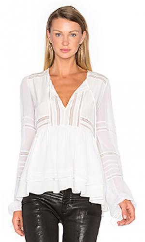 Шелковая блузка bella Marissa Webb. Цвет: белый