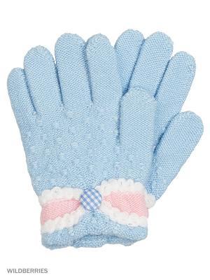 Перчатки Mini. Цвет: голубой