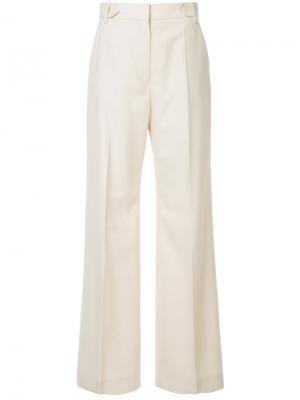 Широкие брюки со складками Cyclas. Цвет: телесный