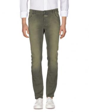 Джинсовые брюки CLOSED. Цвет: зеленый-милитари