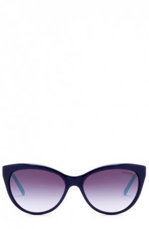 Солнцезащитные очки Tiffany & Co.. Цвет: темно-синий