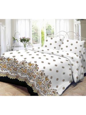 Комплект постельного белья, Кружево Волшебная ночь. Цвет: белый
