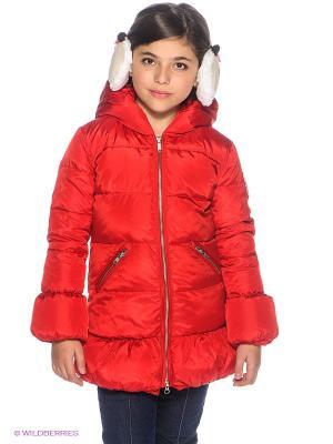 Пальто Bomboogie Kids. Цвет: красный
