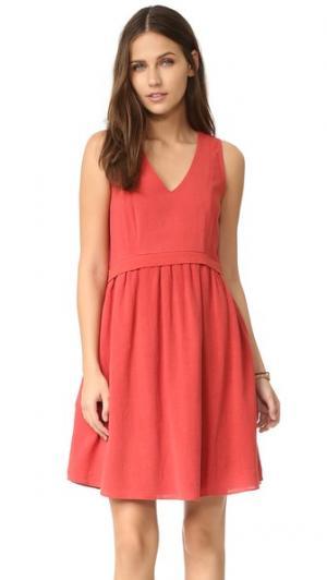Платье Alhena dRA. Цвет: красно-оранжевый