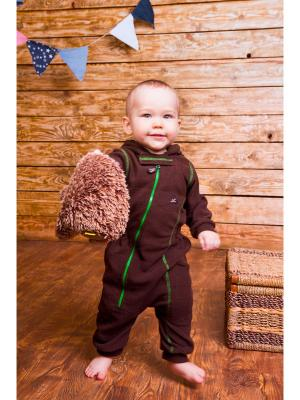 Комбинезон для малышей ЛисФлис. Цвет: бежевый, коричневый