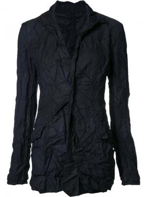 Creased fitted jacket Yohji Yamamoto. Цвет: синий
