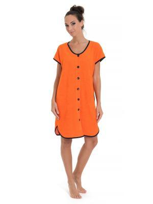 Халат Tenerezza. Цвет: оранжевый