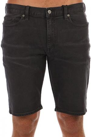 Шорты джинсовые  Washed Straight Grey Quiksilver. Цвет: темно-серый