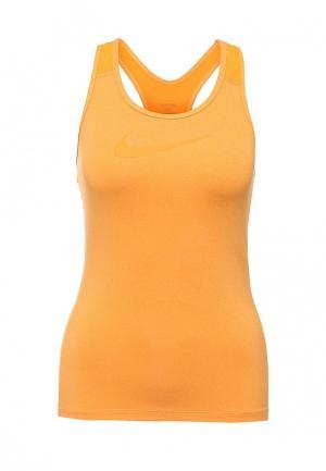 Майка спортивная Nike. Цвет: оранжевый