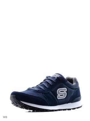 Кроссовки SKECHERS. Цвет: синий, серый