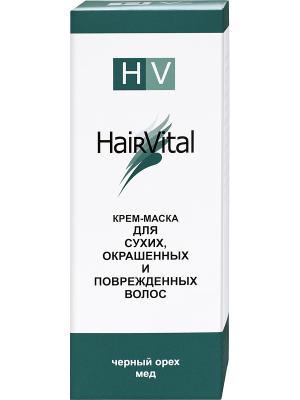 Крем маска для поврежд. волос 150 мл. Hair Vital. Цвет: темно-зеленый, белый