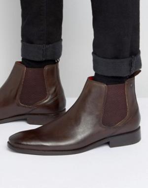 Base London Кожаные ботинки челси Cheshire. Цвет: коричневый