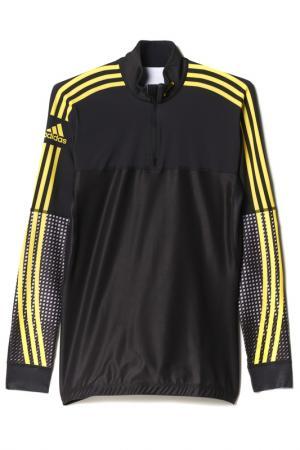 Олимпийка с принтом adidas. Цвет: желтый, черный