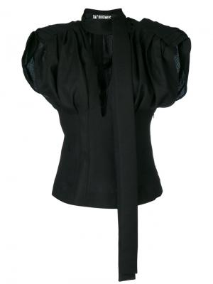 Блузка с объемными рукавами Jacquemus. Цвет: чёрный
