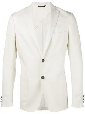 Пиджак с застежкой на две пуговицы Tonello. Цвет: телесный