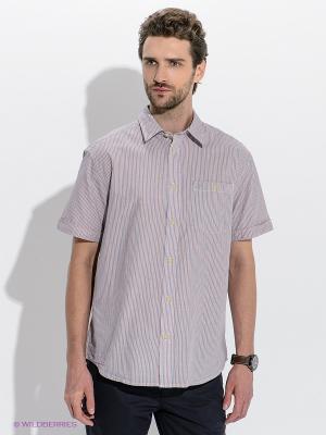 Рубашка Wrangler. Цвет: оранжевый, синий