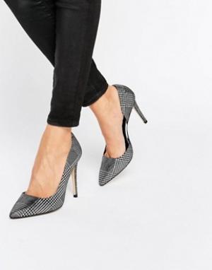 Dune Кожаные туфли-лодочки с вырезами Courtnie. Цвет: серебряный