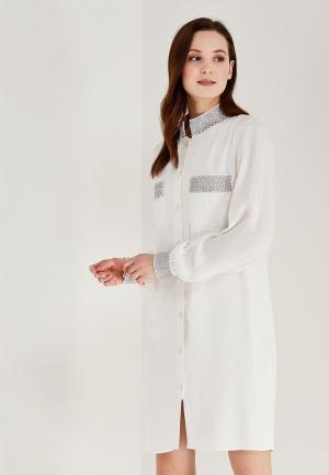 Платье Alex Lu. Цвет: белый