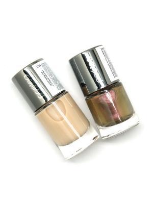 Набор декоративной косметики 2 по цене 1 POETEQ. Цвет: коричневый, золотистый, молочный