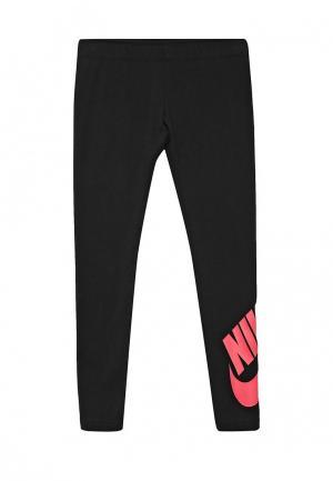 Леггинсы Nike. Цвет: черный