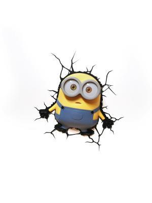 Пробивной 3D светильник Minions-Bob (Боб) Minions. Цвет: черный, серо-голубой, серебристый, желтый, белый