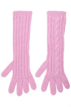 Перчатки Max Mara. Цвет: розовый