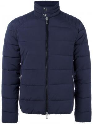 Куртка-пуховик Paolo Pecora. Цвет: синий