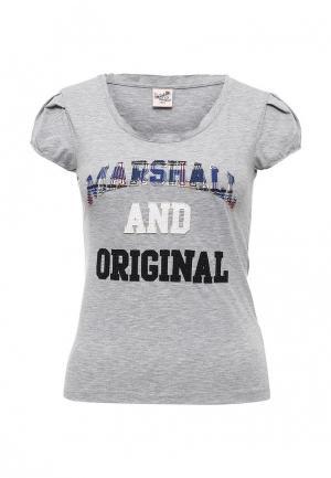 Футболка Marshall Original. Цвет: серый