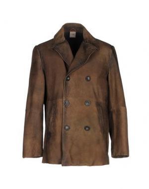 Пальто D'AMICO. Цвет: коричневый