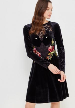 Платье Yukostyle. Цвет: черный