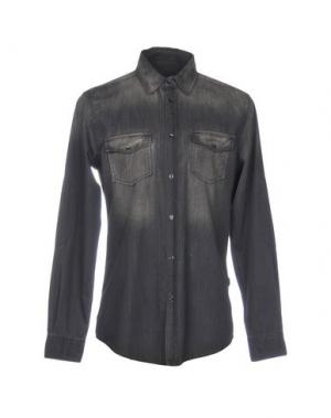 Джинсовая рубашка TRU TRUSSARDI. Цвет: стальной серый