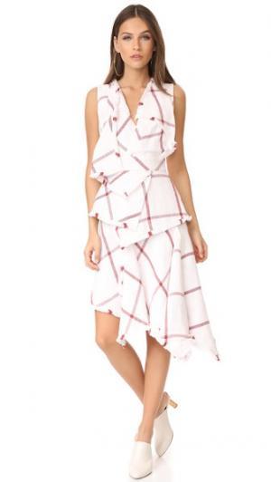 Платье Amaro Acler. Цвет: клетка цвета глины