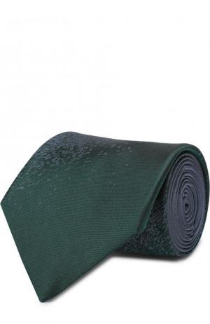 Шелковый галстук с узором Lanvin. Цвет: темно-зеленый