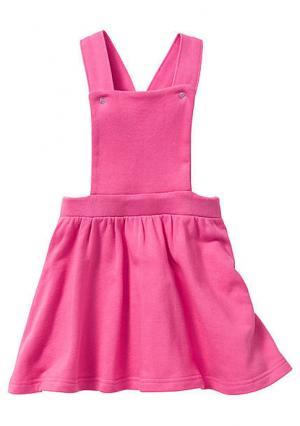 Сарафан. Цвет: розовый, цвет белой шерсти/лиловый с рисунком