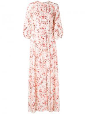 Платье с цветочным принтом Vilshenko. Цвет: телесный