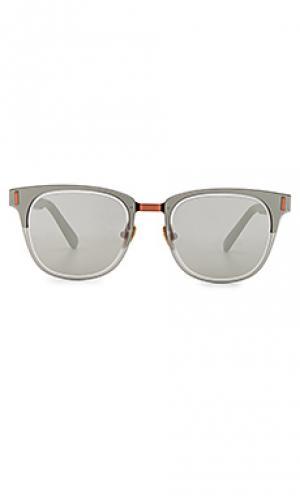 Солнцезащитные очки mirrorcake WESTWARD LEANING. Цвет: черный