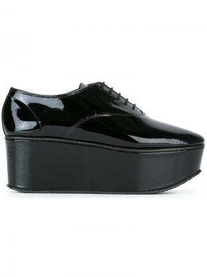 Platform lace up shoes Repetto. Цвет: чёрный