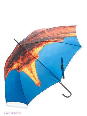 Зонт-трость Flioraj. Цвет: синий, оранжевый