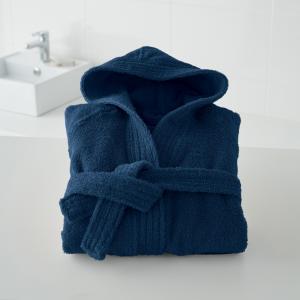 Халат детский с капюшоном 450 г/м², Качество Best La Redoute Interieurs. Цвет: зелено-синий,розовая пудра,светло-синий,синий морской,темно-серый,фиолетовый