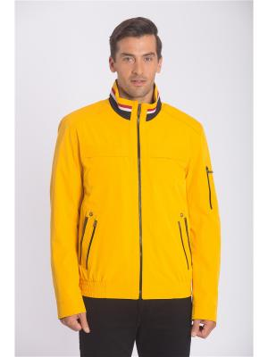Куртка COLD WIND IS MIRAGE. Цвет: желтый