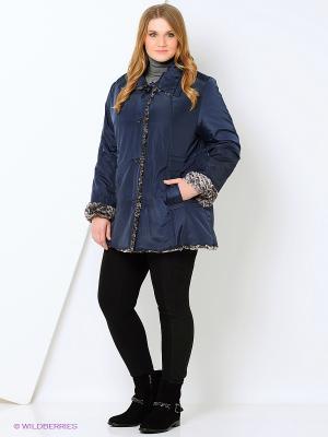 Куртка Azule. Цвет: синий