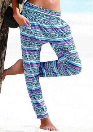 Пляжные брюки s.Oliver. Цвет: мятный/фуксия